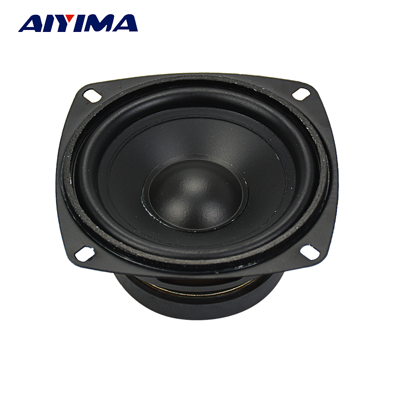 AIYIMA 1Pcs 4Inch Portable Full Range Audio Speaker 8Ohm 50W Computer Subwoofer Speakers DIY For Home Theater