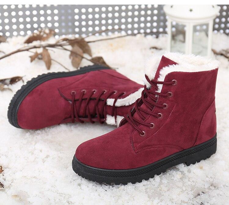 Women's High Heels Plush Winter Boots 18