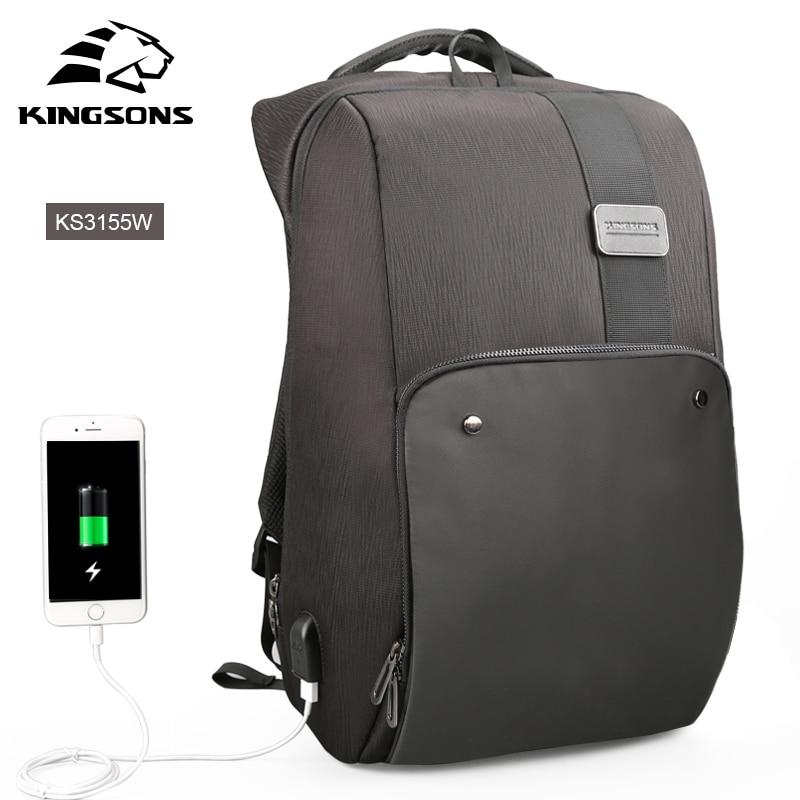 Kingsons Laptop Backpacks Male Mochila Men's Backpack Travel Anti theft Male Bag рюкзаки zipit рюкзак shell backpacks