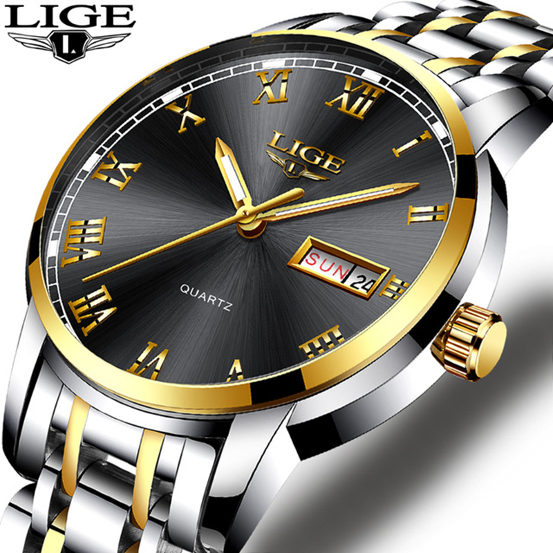 Relogio Masculino LIGE Mens Watches Top Brand Luxury Male Military Sport Luminous Watch Men Business Quartz-Watch Male Clock Man mens watches top brand luxury jedir quartz watch chronograph luminous clock men military sport wristwatch relogio masculino