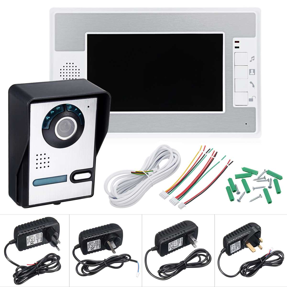 NEW Safurance Wired 7 Video Doorbell One to One Intercom Security System with 1 Monitor Door Intercom Home SafetyNEW Safurance Wired 7 Video Doorbell One to One Intercom Security System with 1 Monitor Door Intercom Home Safety
