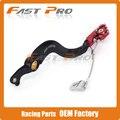 CNC Billet Flexable MX Rear Foot Brake Pedal For CRF450R CRF 450R 2002-2015 Motorcycle Dirt Bike Motocross Off Road