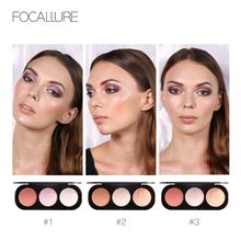 3 Colors Brand Focallure Makeup Blush Palette  Face Blusher Powder makeup blush maquiagem
