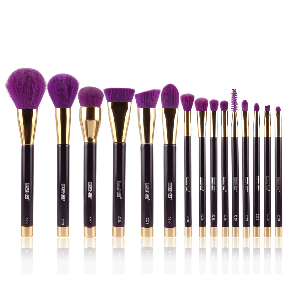 Pro 15pcs Makeup Brushes Set Foundation Powder Blush Eyeliner Eyebrow Eyelash Lips Contour Brushes Pincel Maquiagem Full Kit pro 15pcs tz makeup brushes set powder foundation blush eyeshadow eyebrow face brush pincel maquiagem cosmetics kits with bag