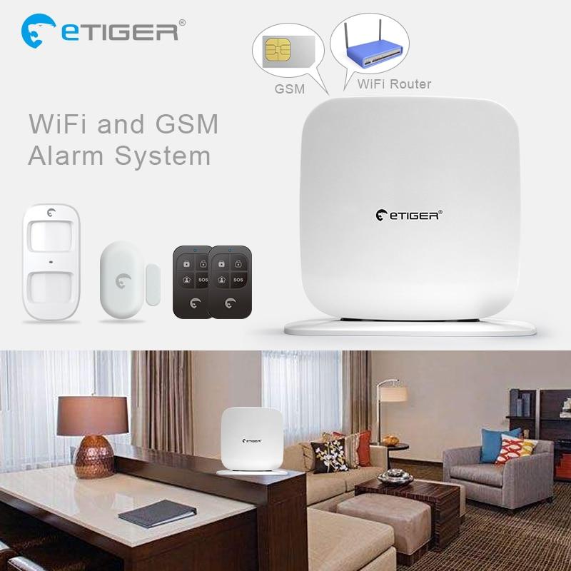 Etiger SecualBox V2 GSM WiFi Intruder Burglar Alarm Security System GSM Alarm Fire alarm Smoke detector etiger g90b wifi wireless gsm burglar alarm intruder ip camera fire sensor flash siren