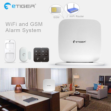Etiger SecualBox V2 GSM WiFi Intruder Burglar Alarm Security System GSM Alarm Fire alarm Smoke detector