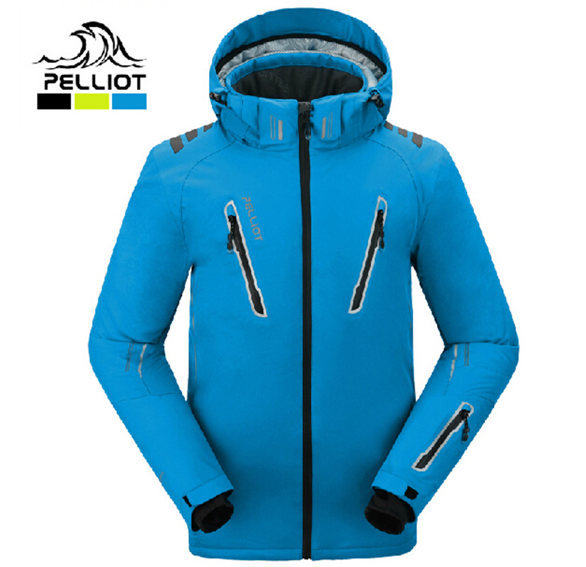 Garantire la autentico! 2018 Pelliot maschio tute da sci uomini giacca impermeabile, traspirante termica cottom-imbottita snowboard outcoat