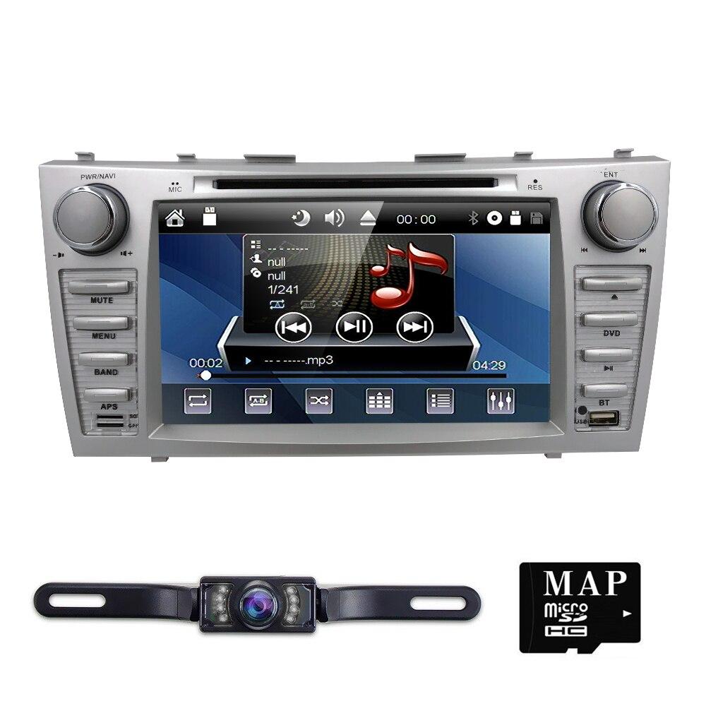82din автомобилей Радио gps-навигация монитор для Toyota Camry AURION головного устройства Стерео Радио руль Bluetooth iPod RDS CAM