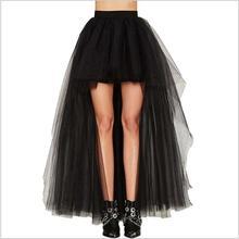 купить Black Swallowtail Vintage Steampunk Skirts Women Long Burlesque Corset Skirt Gothic Clothing Plus Size 3XL дешево
