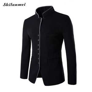 Suit Jacket Blazer Masculino Black Blue Mens Red Blazer