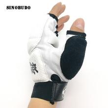 Kyokushin Kai каратэ перчатки Боевая защита рук Единоборства Спорт искусство Спорт PU кожа фитнес боксерские перчатки