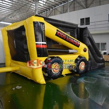 Creative design forklift model inflatable slid