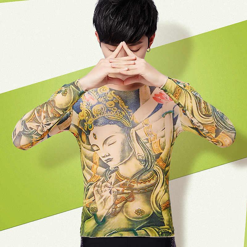 Detail Feedback Questions about Fashion Tattoo Print T shirt Men ...