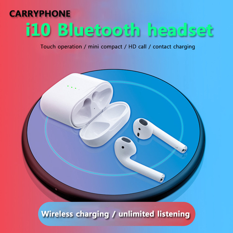 d07f61e4852 Carryphone i10 tws i10s tws wireless charge support Earphones Wireless  earphone Bluetooth 5.0 Earbuds Touch control headset