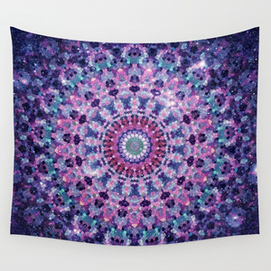 Image 3 - CAMMITEVER Flower Ring Circle Mandala Tapestry Purple Grey Colorful Black White Living Room Bedroom Dorm Home Decorations
