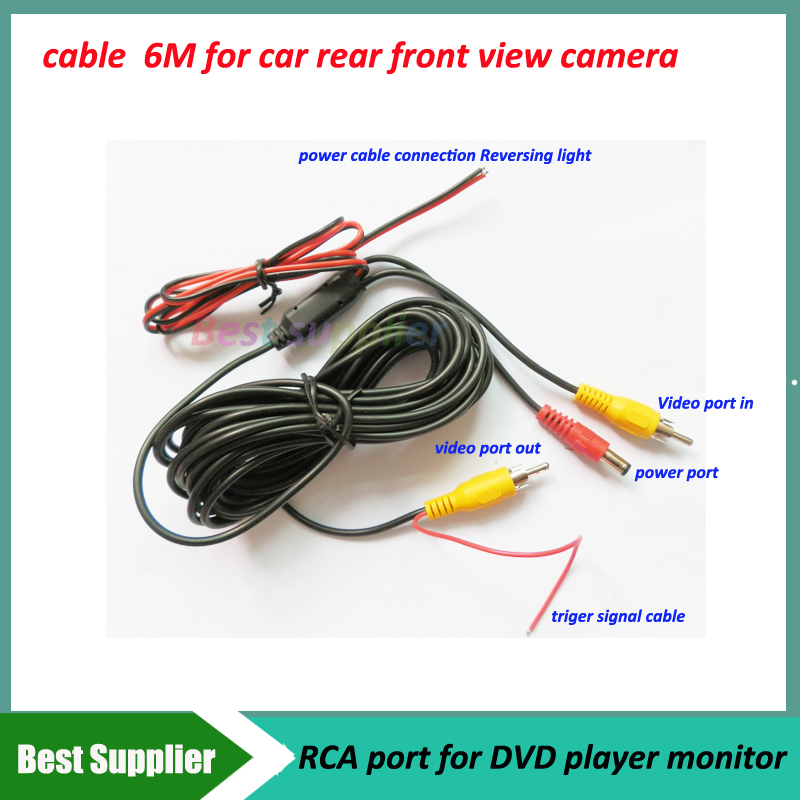 High quality car cables for parking backup front view camera 6m rca high quality car cables for parking backup front view camera 6m rca port video out for car monitor dvd player on aliexpress alibaba group asfbconference2016 Images
