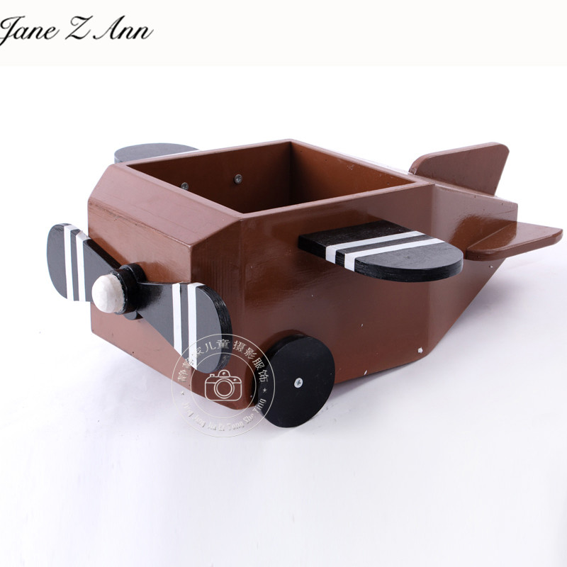 Jane Z Ann деревянный самолет новорожденный младенец 100 дней студия съемки реквизит младенческий самолет творческие аксессуары