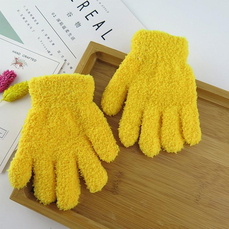 Плюшевые перчатки детские подарки детский сад Зимние удобные мягкие разноцветные