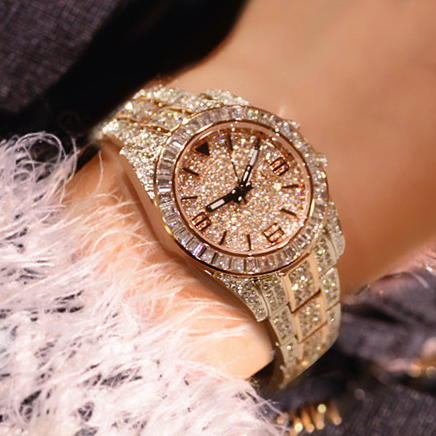 Austrian crystal fashion brand new 2016 luxury women 39 s diamond watches women 39 s dress watches for Woman diamond watches