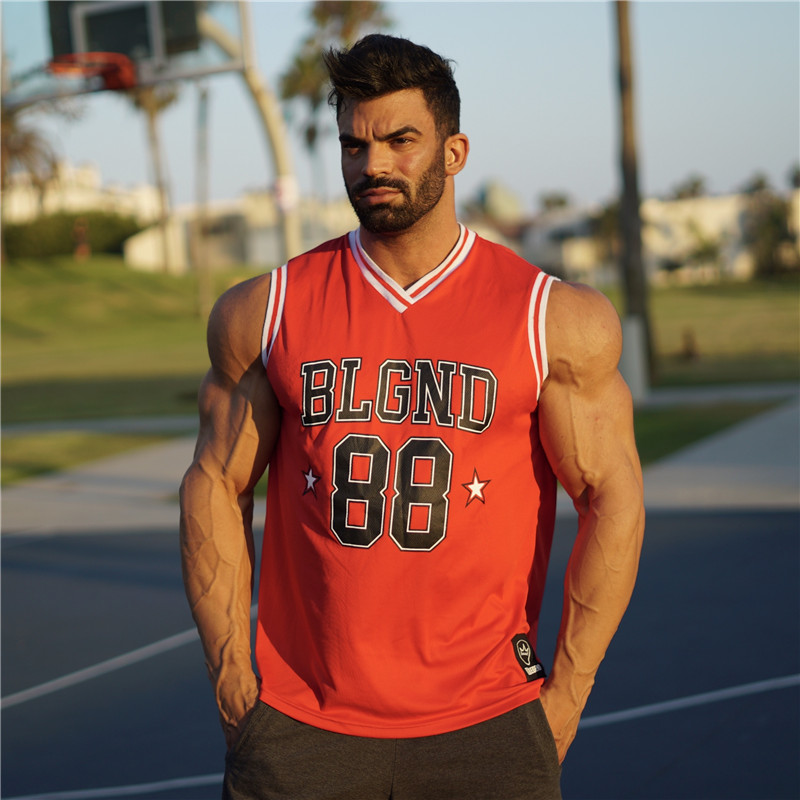 2019new summer Mens Basketball jersey Fitness   Tank     Top   Bodybuilding Stringers GYMS   Tank     Tops   Brand Clothing Sleeveless Shirt