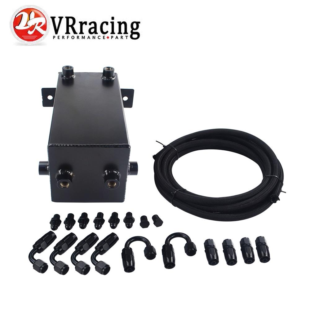 цена на VR RACING - 4L Aluminium Surge tank Full BLack Fuel cell 4L Universal Complete Fuel Surge Tank 4 L Swirl Pot System VR-TK32BK-W