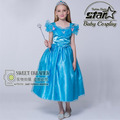 Nuevo Diseño del Niño de 3 a 12 Niños Niñas Vestido Cosplay Cenicienta Vestido de Novia de Halloween Princesa Party Dress Vestidos