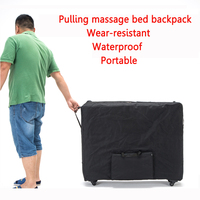 Push pull folding storage bag for massage bed beauty bed waterproof backpack with wheel Wear resistant oxford cloth 93*70cm