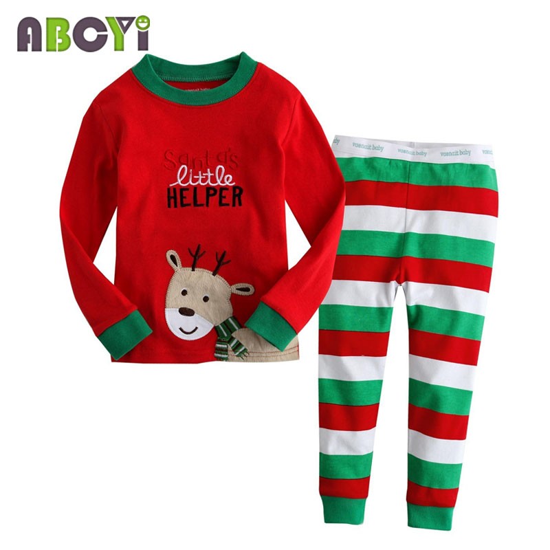 children's pajamas Long Sleeve Clothes Kids Pajamas Baby Clothing Sets for Boys pijama Girls pyjamas Cartoon Sleepwear 4