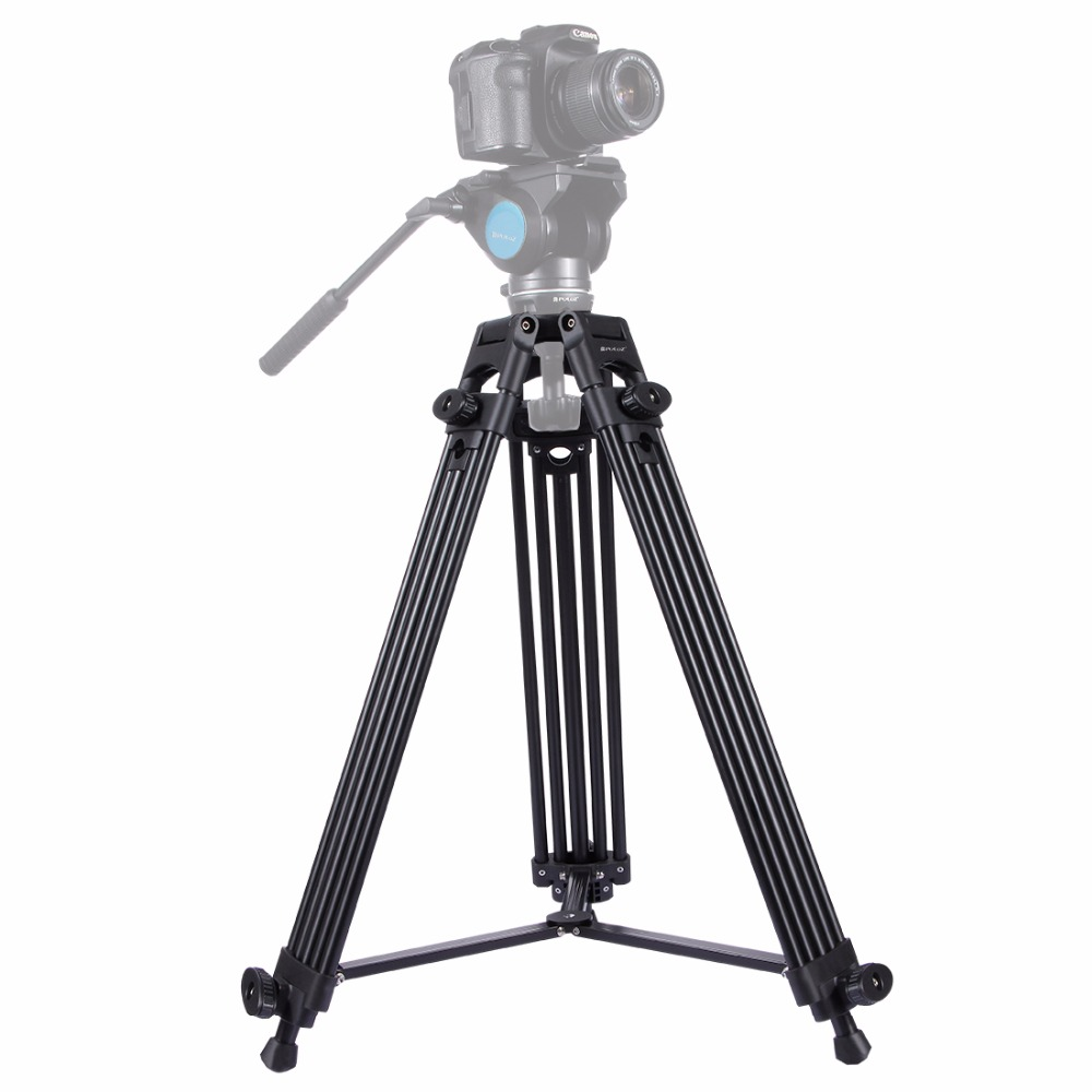 New Professional Video Camera Camcorder photography Tripod Heavy Duty Aluminium Alloy Tripod for Canon Nikon Sony