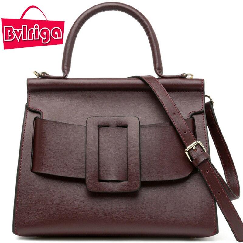 BVLRIGA Women bag Genuine leather bag Luxury handbags women bags designer Brand