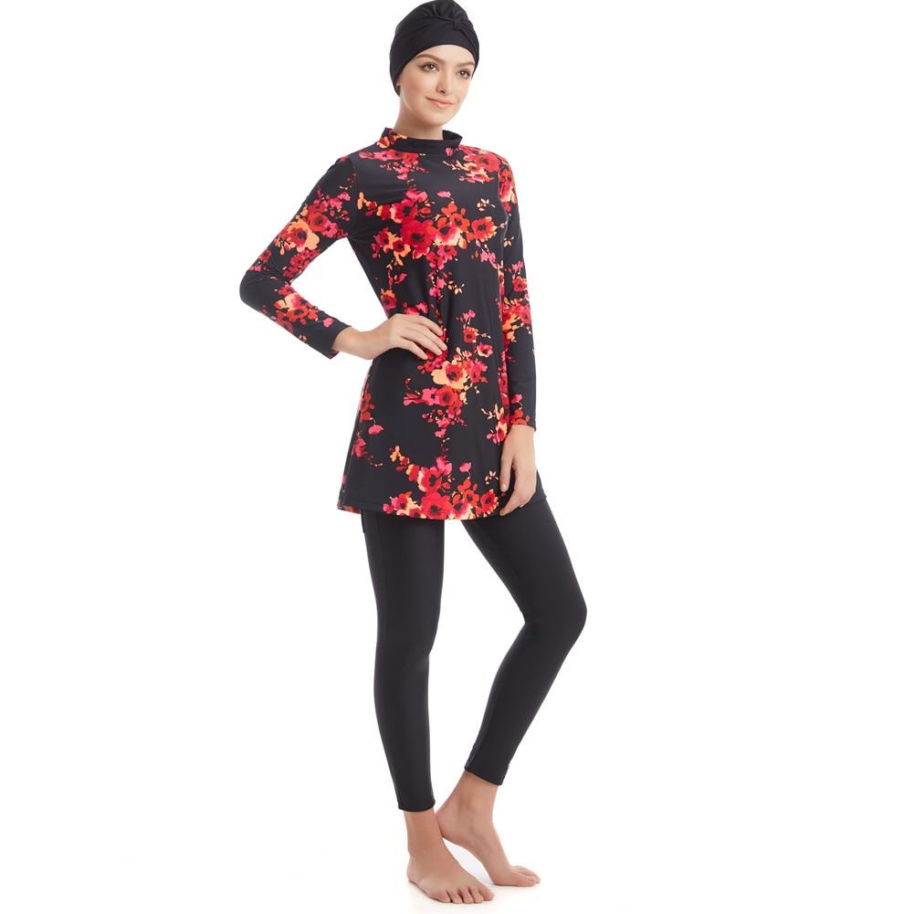 Muslim Swimwear Islamic Women Modest Hijab Plus Size Burkinis Wear Swimming Bathing Suit Beach Full Coverage Swimsuit