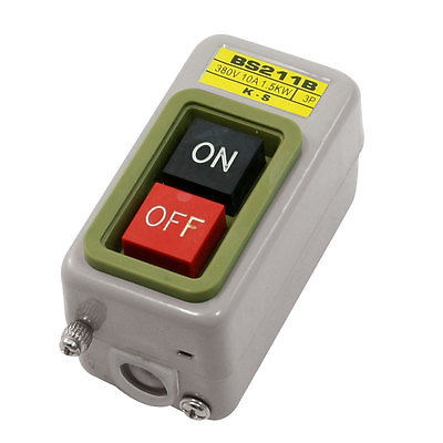 NO OFF Self Locking Metal Power Push Button Switch 380V 10A