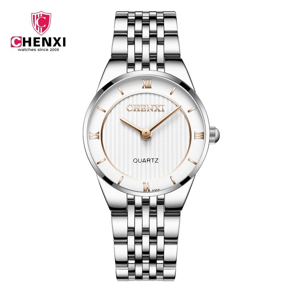 CHENXI Топ Модные женские туфли часы 2018 Высокое качество ультра тонкий кварцевые часы женские элегантное платье женские часы Montre Femme