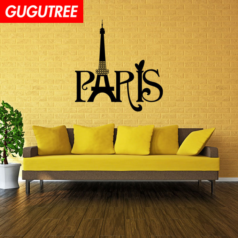 Decorate Home 43x45cm Paris Tower art wall sticker decoration Decals mural painting Removable Decor Wallpaper LF-483