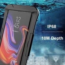 IP68 étui pour samsung Galaxy S10 Plus S10e S8 Note 10 9 S7 bord sous couverture de plongée étanche à leau 360 clair antichoc