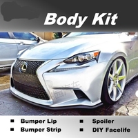 NOVOVISU Bumper Lip Deflector Lips For Lexus IS IS200 IS250 IS300 IS350 For TOYOTA Altezza Front For Car Body Kit / Strip