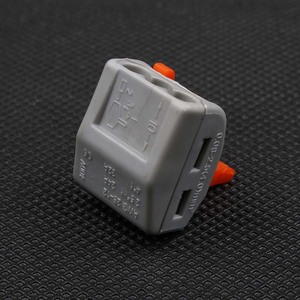 Image 5 - 100Pcs PCT 213 PCT213 222 413 Universal Compact Wire Bedrading Connector 3 pin Dirigent Terminal Block Lever AWG 28  12