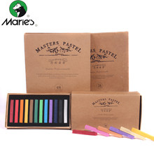Marie's Painting Crayons Soft Dry Pastel 12/24/36/48 Colors/Set Art Drawing Set Chalk Color Crayon Brush Stationery for Students(China)