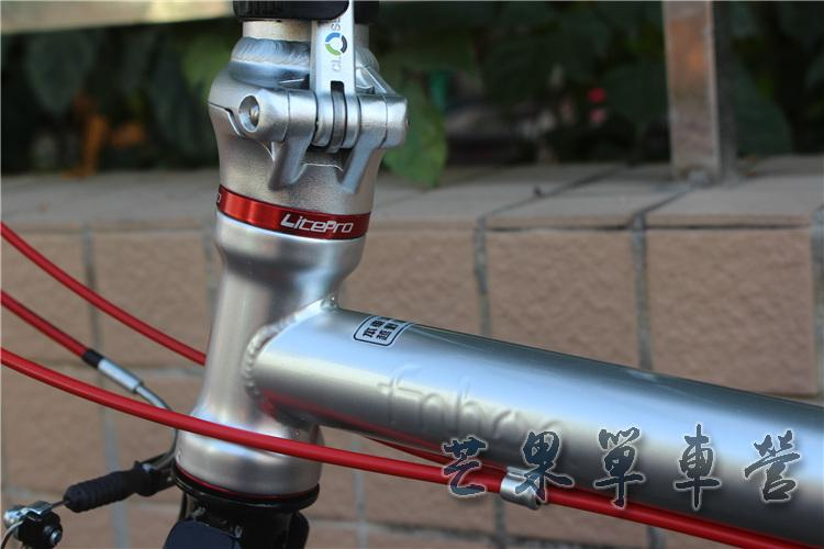 "HTB1yFyKXPnuK1RkSmFPq6AuzFXaG Fnhon CR-MO Steel Folding Bike 16"" Minivelo Mini velo 9 Speed Bike  Bicycle overall bike V Brake"