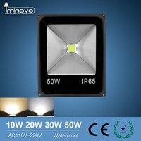 זרקור Led מבול אור חיצוני הארה 10 W 20 W 30 W 50 W מנורת קיר ומכונת כביסה רפלקטור IP65 עמיד למים גן 220 V תאורת RGB