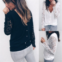 Cardigan Women Autumn Winter Female Long Sleeve Lace Cardigan Korean Slim Pockets Sweater Knitted Cardigans Women Tops(China)