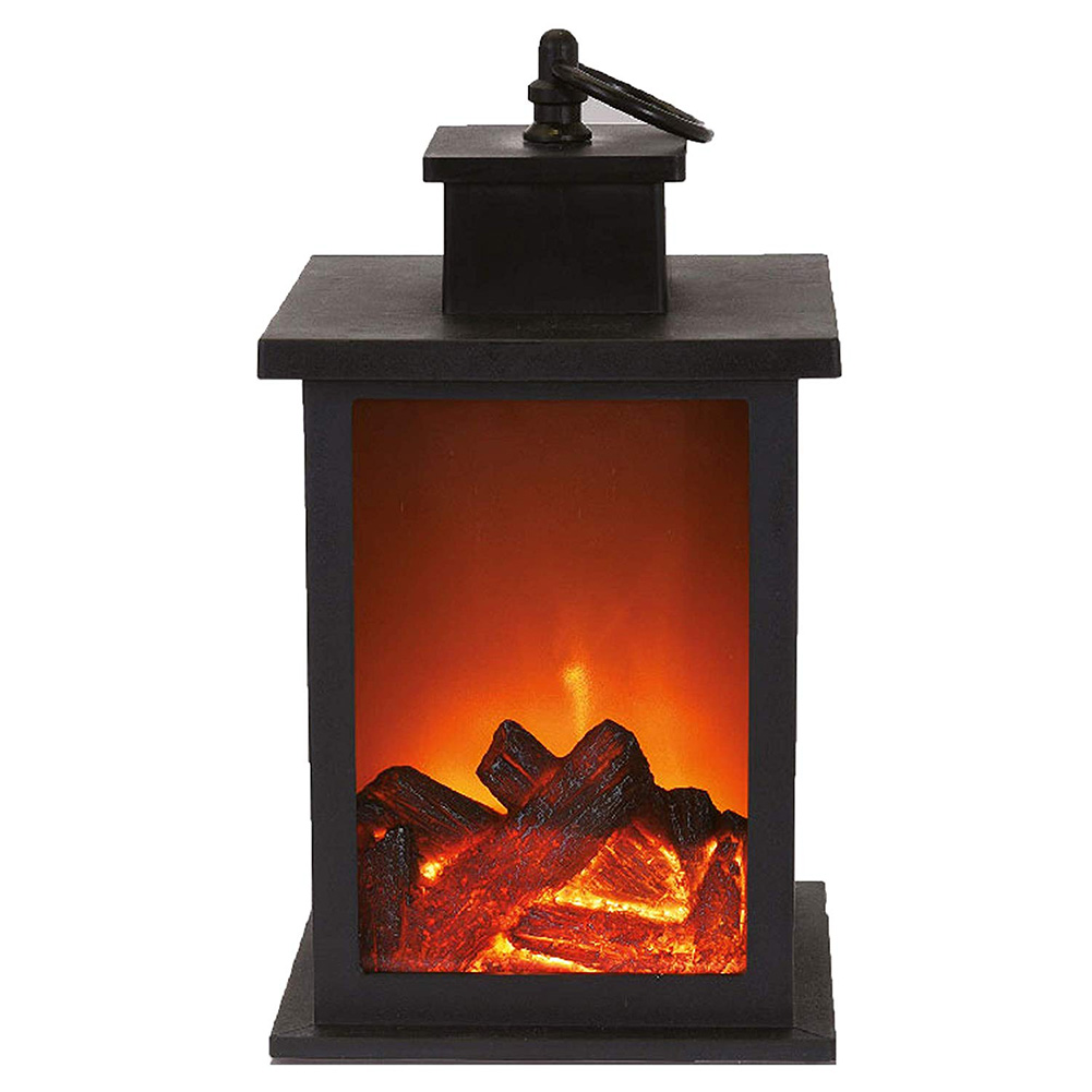 1 個暖炉 LED 燃焼効果ランタンライトランプ耐久性のための庭の芝生寝室 AI88