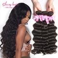 Brazilian Loose Deep Wave Virgin Hair Natural Curl Weave Human Hair 4 Bundles Wet And Wavy Virgin Brazilian Hair Weave Bundles