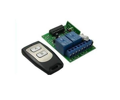 Free Shipping DC12V 2CH Learning Code RF Wireless remote control switches system for Doors windows, Lifting Equipment, Gateways
