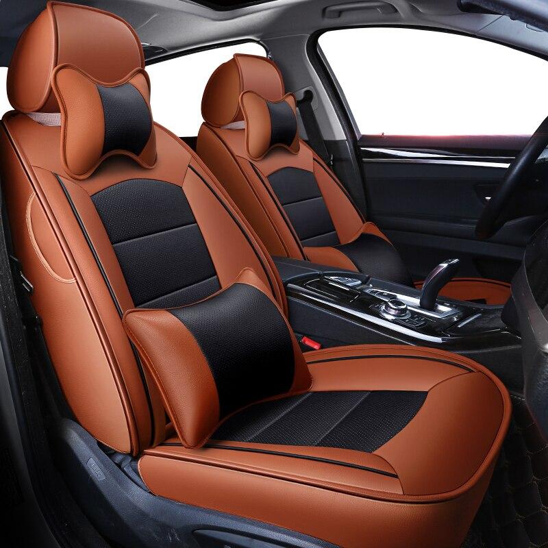 Kokololee personalizzato in vera pelle copertura di sede dell'automobile per Jaguar XJ XF XE Automobiles Sedile Coperture