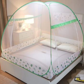 Summer Mongolian Yurt Mosquito Nets for Children Student Bed Folding Bi-parting Insect Adult Bed Net Outdoor Travel Netting Tent