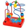 Crianças Brinquedos Educativos Brinquedos Talão Rodada Brinquedos Infantis mini de madeira ao redor do grânulo contas enigma frete grátis