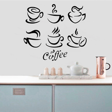 3D Coffee Wall Sticker Removable Stickers Diy Wallpaper Art Decals