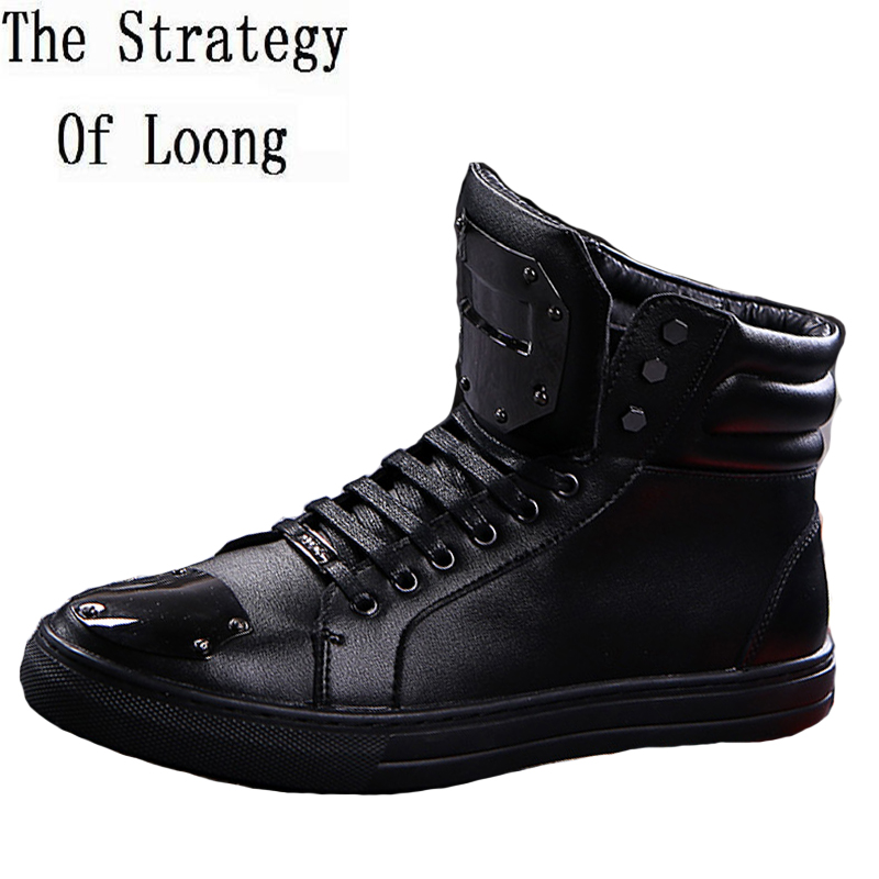 Men Geauine Leather Lace Up Flat Ankle Boots Spring Autumn Fashion Men Boots New Arrival Nice Boots 20170108 men spring autumn full grain leather ankle boots lace up fashion casual real leather men boots 20170107