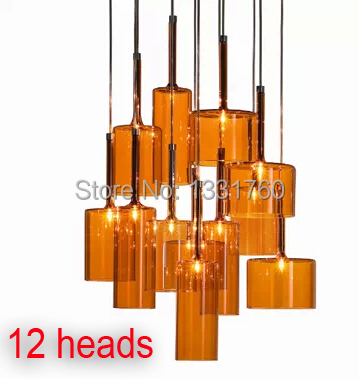 Spillray Pendant Lamp from Axo Light suspension lighting modern glass pendant lighting dinning room hanging lamp 10 ,12 heads hand made wool felt hat aluminum suspension lamp cap jeeves and wooster pendant light hanging lighting dinning hall couture